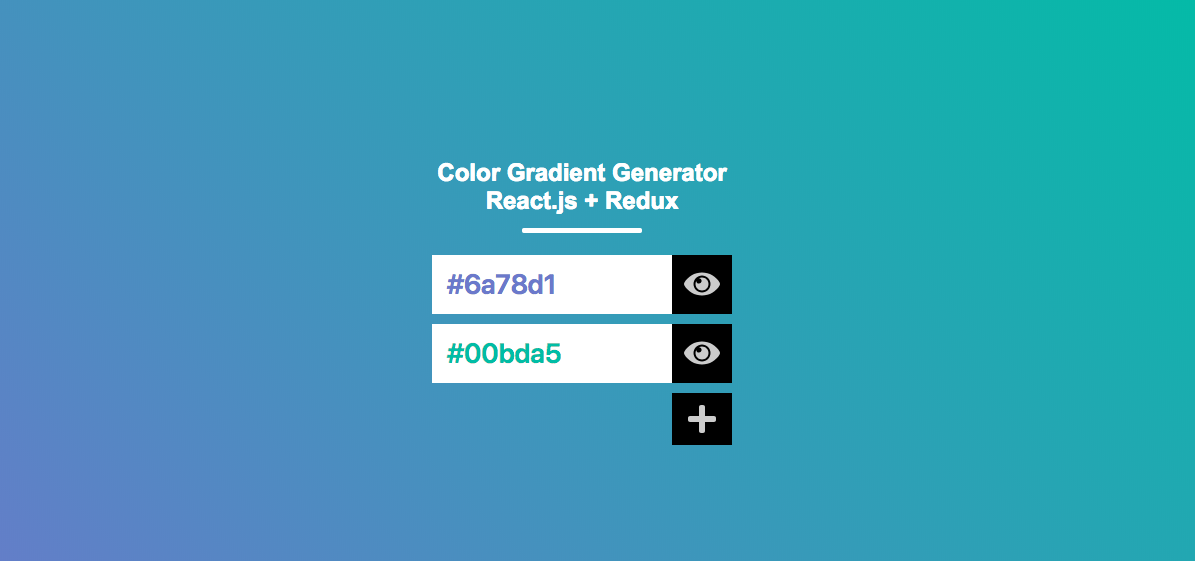 Color Gradient Generator React.js + Redux